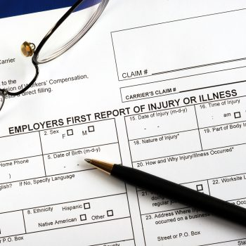 Fill in the workmen compensation injury claim form